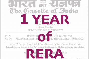 1 Year of RERA - Impact of RERA on Real Estate & Home Buyers