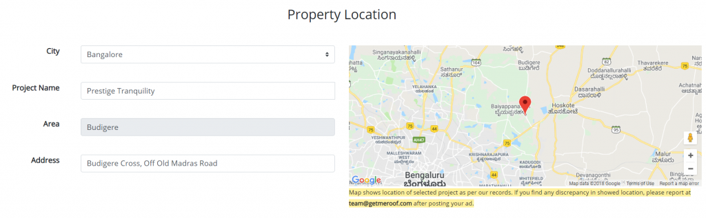 Define Property Location for your property