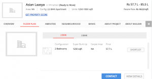 Low Budget Project in Whitefield - Asian Laasya