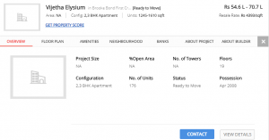 Low Budget Project in Whitefield - Vijetha Elysium