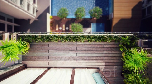 The Green Terraces - Swimming Pool - Top View 1