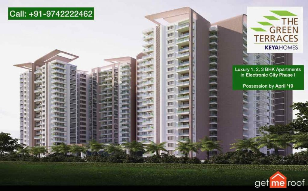 The Green Terraces in Electronic City by Keya Homes - Elevation View